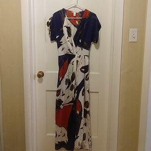 Diane von Furstenberg silk maxi